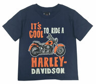 Harley-Davidson® Little Boys' Cool To Ride Short Sleeve Tee, Navy Blue 1570677