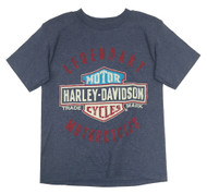Harley-Davidson® Little Boys' Legendary Short Sleeve Tee, Denim Heather 1580685