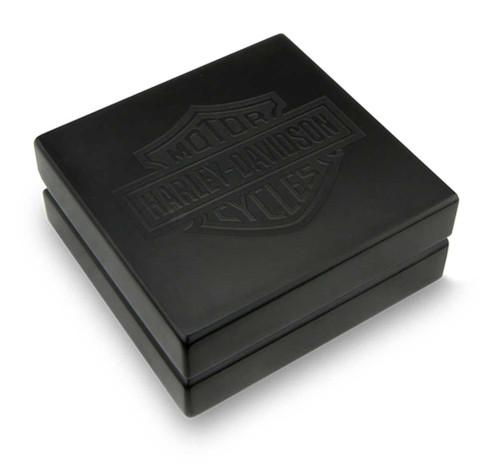 Harley-Davidson® Bar & Shield Coin Box, Holds Single 1.75 in Coin, Black 8002695
