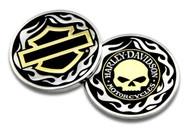 Harley-Davidson® Golden Skull / Bar & Shield Challenge Coin, 1.75 inch 8005092