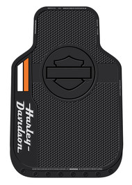 Harley-Davidson® Stacked Bar & Shield Logo Floor Mats, Non-Carpeted, Black 1585