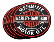 Harley-Davidson® Genuine Bar & Shield Oil Can PVC Coaster Set, Set of 4, 210040