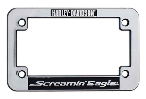 harley davidson screamin eagle motorcycle license plate frame chrome harlnv0099