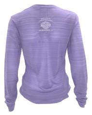 Harley-Davidson® Women's Performance Ruched Ride All Day Shirt, Purple HU08-HA6D (HU08-HA6D)