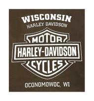 Harley-Davidson® Men's Bad Manners Winged Skull Short Sleeve T-Shirt, Dark Brown