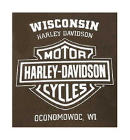 Harley-Davidson® Men's The Baddest Biker Short Sleeve T-Shirt, Dark Chocolate