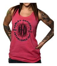 Harley-Davidson® Women's Embellished H-D Vault Sleeveless Tank Top, Magenta