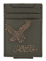 Harley-Davidson® Men's Vintage Eagle Front Pocket Leather Wallet EV4369L-BLACK