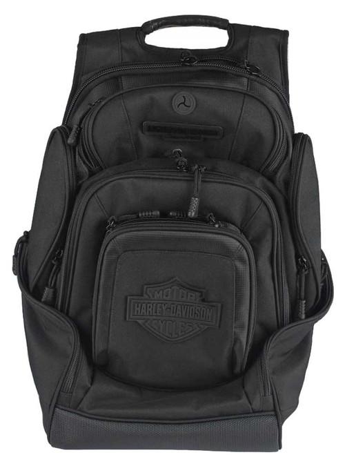 harley davidson sculpted bar shield deluxe backpack. Black Bedroom Furniture Sets. Home Design Ideas