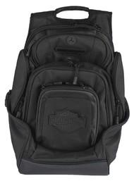 Harley-Davidson® Sculpted Bar & Shield Deluxe Backpack, Black BP2000S-BLKBLK