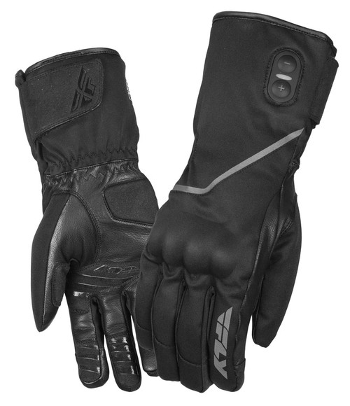 Fly Street Ignitor Pro Heated Gauntlet Gloves, 3 Heat Settings, Black 476-2920