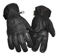 Redline Men's Winter Gloves w/ Kevlar Palms & Thinsulate Lining, Black G-050