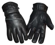 Redline Men's Reflective Piping Full-Finger Thinsulate Leather Gloves G-048
