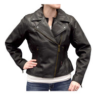 Redline Women's Mid-Weight Goat Leather Jacket w/ Gator Skin Liner L-3150GS