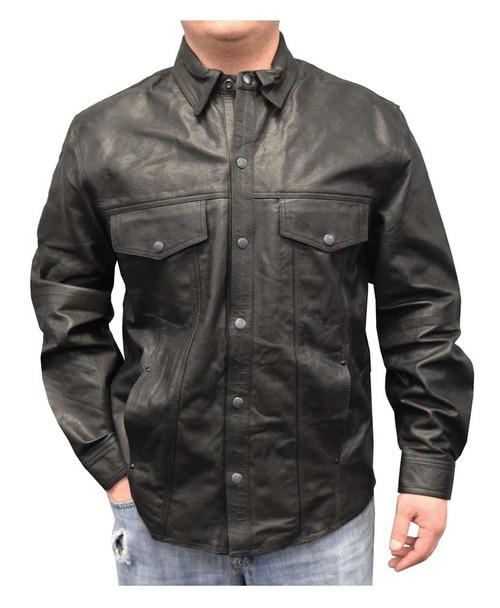 Harley Davidson Distressed Leather Shirt