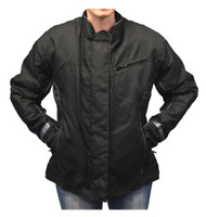 Redline Women's Body Armor Racing Nylon Jacket w/ Liner, Solid Black L-4014