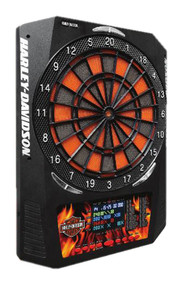 Harley-Davidson® Bar & Shield Flaming Electronic Dart Board, 18 x 24 inch 61969