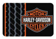 Harley-Davidson® Bar & Shield Tread Round Edge Rug, 20 x 30 Inch NW712171