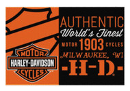 Harley-Davidson® Sell Off Bar & Shield Tufted Rug, 39 x 59 Inch, Black NW712164