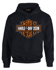 Harley-Davidson® Men's Bar & Shield Pullover Fleece Hooded Sweatshirt, Black