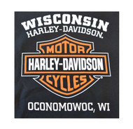 Harley-Davidson® Mens Bar & Shield Long Sleeve Crew Neck Fleece Sweatshirt, Black
