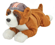 Harley-Davidson® Kid's Biker Club Tank 14 inch Boxer Stuffed Animal, Brown 20365