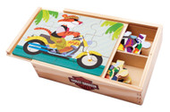 Harley-Davidson® Kid's Wooden Puzzle Set, 4 Puzzles Set, 8 x 5.5 inches 20337