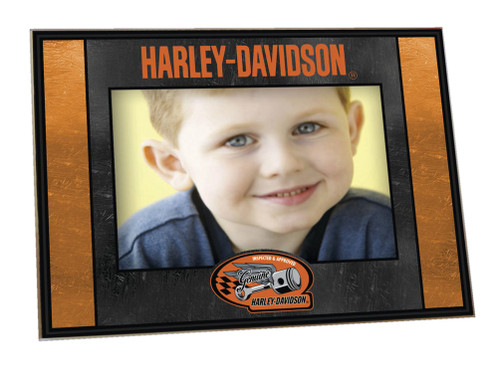 Harley-Davidson® Art-Glass Horizontal Genuine Harley 4 x 6 Photo Frame HD-HDG-245