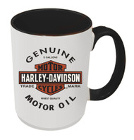 Harley-Davidson® Genuine B&S Coffee Mug, 15 oz White w/ Black Inside HD-GMO-1772B