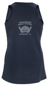 Harley-Davidson® Women's Glory Bar & Shield Sleeveless Tank Top, Blue Night