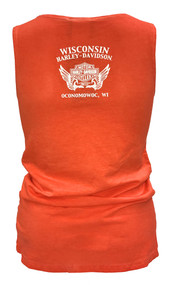Harley-Davidson® Women's All Day H-D Sleeveless Tank Top, Flame Cold Dye