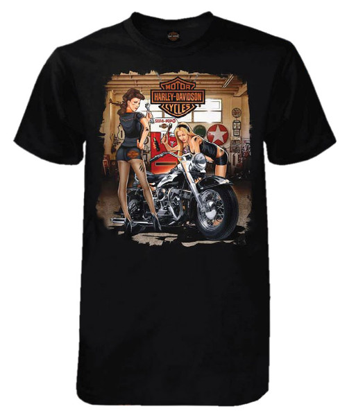 harley davidson men 39 s grease girls short sleeve tall t