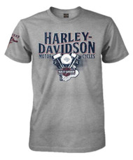 Harley-Davidson® Men's H-D Pride Crew Neck Short Sleeve T-Shirt, Heather Gray