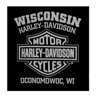 Harley-Davidson® Men's Vintage Lid Biker Skull Sleeveless Muscle Tee, Black
