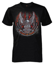 Harley-Davidson® Men's Up-Wing Eagle Emblem Short Sleeve Tall T-Shirt, Black