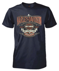 Harley-Davidson® Men's Heirloom H-D Script Short Sleeve T-Shirt, Navy Blue