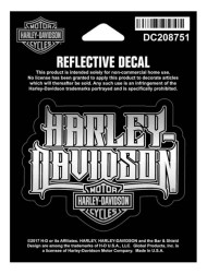 Harley-Davidson® Reflective Spiked Text Decal, XS Size, 3 x 2.5 inches DC208751