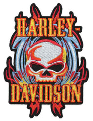 Harley-Davidson® Vicious Willie G Skull Emblem, MD Size 4.125 x 5.5 inch EM639993