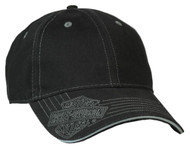 Harley-Davidson® Men's Woven Bar & Shield Logo Baseball Cap, Solid Black BCC30230