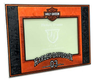 Harley-Davidson® Art-Glass Horizontal '03 H-D 4 x 6 Photo Frame, Black HD-HDS-245
