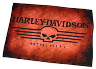 Harley-Davidson® Straight Willie G Skull Garden Flag, Orange & Black HD-HD-929
