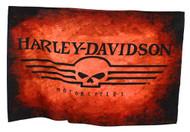 Harley-Davidson® Straight Willie G Skull Estate Flag, Orange & Black HD-HD-927