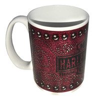 Harley-Davidson® Bar & Shield Leather Coffee Mug, 15 oz. Pink & White HD-LTH-1401