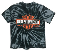 Harley-Davidson® Little Boys' Bar & Shield Swirl Tie-Die T-Shirt, Black 1580735