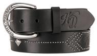 Harley-Davidson® Women's Native Star Studded Genuine Leather Belt HDWBT11250-BLK