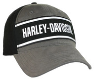 Harley-Davidson® Men's H-D Baseball Cap, Black & Dark Shadow Brushed BCC51630