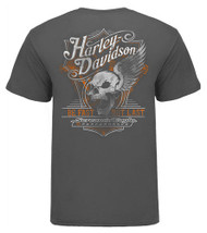 Harley-Davidson® Men's Screamin' Eagle Be Fast Crew T-Shirt, Charcoal HARLMT0254