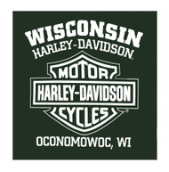 Harley-Davidson® Men's Stark H-D Script Long Sleeve T-Shirt, Forest Green