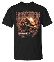 Harley-Davidson® Men's Outlaw Skull Bar & Shield Short Sleeve T-Shirt, Black