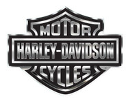 Harley-Davidson® Decal, Chrome Bar & Shield Logo, X-Large 30 x 40 Inch CG4330